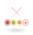 Sushi on a white background vector image