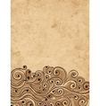 Grunge wave background for your design vector image