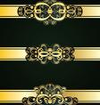 Golden Floral Ornament5 vector image vector image