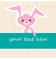 Cartoon bunny card vector image vector image