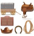 Cowboy Icons Set 2 vector image