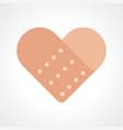 heart shape band aid vector image