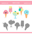 Matching game with ice cream vector image