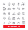 pollution dirt erosion deterioration toxic vector image