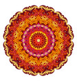 red mandala ethnic decorative elements vector image