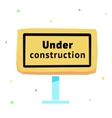 sign under construction eps10 vector image