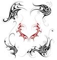 Tribal tattoo set vector image
