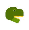 tyrannosaurus face angry dinosaur head t-rex front vector image