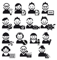 Creative people icon set vector image