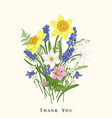 bouquet with spring flowers vector image vector image
