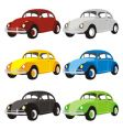 funny colored cars with details vector image vector image