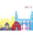 Karachi skyline pop vector image