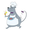 Cartoon rat cook vector image