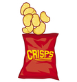 potato chips bag vector image vector image