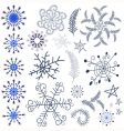 collection snowflakes and design elements vector image vector image