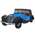 Vintage blue convertible vector image