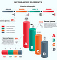 Infographics elements Columns chart with icons vector image