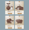 Animal banner with Cows for web design 1 vector image
