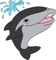 Smiling Killer Whale vector image vector image