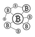 blockchain network scheme vector image