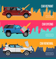 car repaint renewal and dyeing business concept vector image