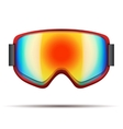 Classic snowboarding goggles with big rainbow vector image