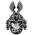 heraldic silhouette No12 vector image