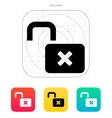 Lock is open icon vector image