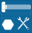 machine screw normal wrench and adjustable wrench vector image