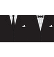 Male clothing suit background vector image