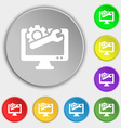 repair computer icon sign Symbol on eight flat vector image