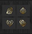 set of minimal geometric monochrome shapes trendy vector image