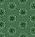 fan shaped pattern of flowers vector image