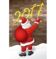 Santa draws 2017 vector image