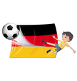 A boy playing football vector image vector image