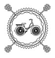 emblem bicycle city icon vector image