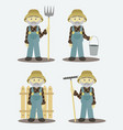 farmer isolated vector image