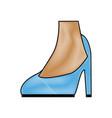 female feet in high heel blue classic stiletto vector image