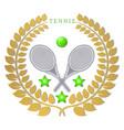 the theme tennis vector image