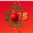 Happy New Year 2015 Greeting Card and Merry vector image vector image