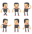 set of bad guy character in different poses vector image