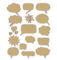 set of cartoon speech bubbles vector image vector image