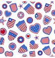 Seamless pattern of USA symbols vector image vector image