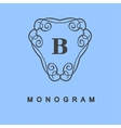 Set of monogram logo template vector image
