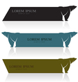 Bear banners vector image