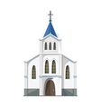 Catholic church icon isolated on white background vector image