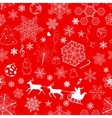 Christmas seamless red background vector image