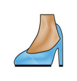 female feet in high heel blue classic stiletto vector image