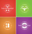Fitness logo for design website infographic po vector image