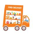 Food delivery cartoon vector image